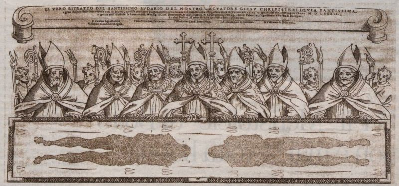 <B>TORINO, San Carlo Borromeo venera la Sindone.</B>