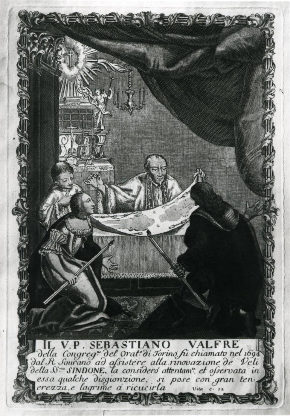 <B>TORINO. Il Beato Sebastiano Valfrè venera la Sindone. </B>