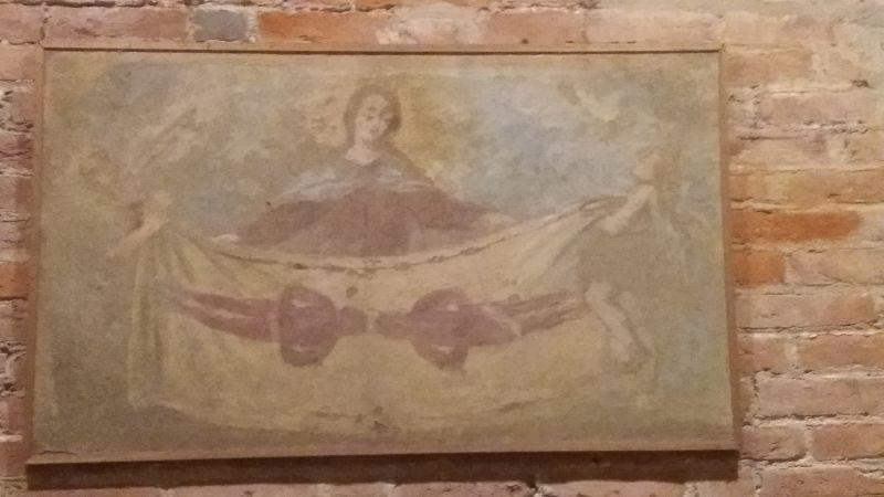 VINOVO (To). Chiesa parrocchiale di San Bartolomeo, affresco con rappresentazione della Sindone.