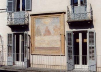 BENEVAGIENNA (Cn). Casa de Giovannini, affresco sindonico.