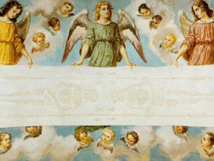 CHERASCO (Cn). Chiesa san Pietro, con immagine sindonica.
