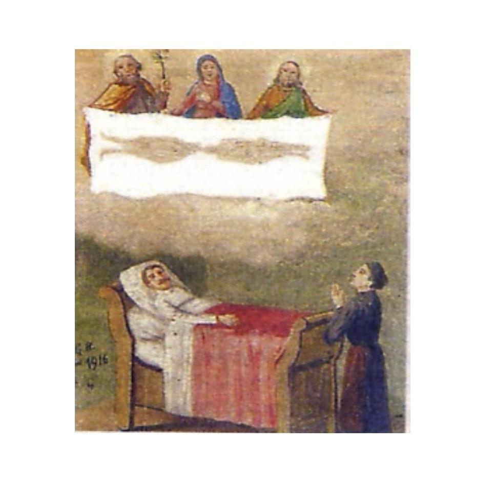 <B>TORINO. Biblioteca della Regione Piemonte, ex-voto sul Santo Sudario.</B>